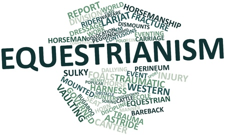 Abstract word cloud for Equestrianism with related tags and terms Stock Photo - 16042220