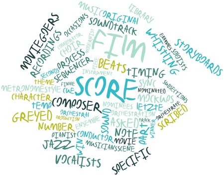 orchestration: Abstract word cloud for Film score with related tags and terms