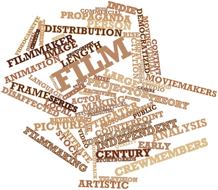 blimps: Abstract word cloud for Film with related tags and terms