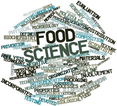 preservation: Abstract word cloud for Food science with related tags and terms Stock Photo
