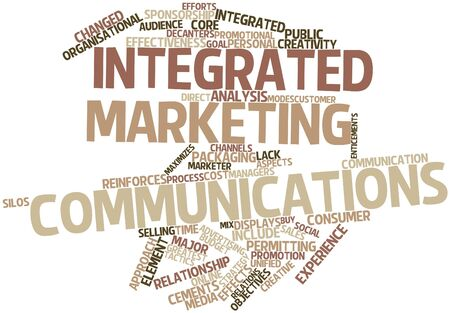 integrated: Abstract word cloud for Integrated marketing communications with related tags and terms