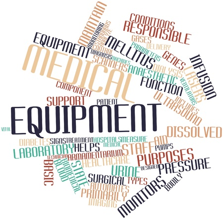 medical equipment: Abstract word cloud for Medical equipment with related tags and terms