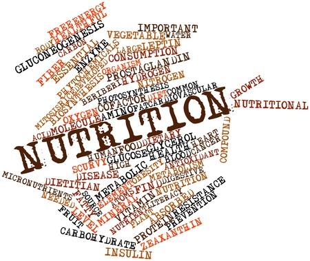 needed: Abstract word cloud for Nutrition with related tags and terms Stock Photo