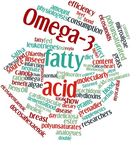 Abstract word cloud for Omega-3 fatty acid with related tags and terms Stock Photo - 16047748