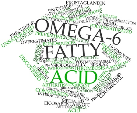 Abstract word cloud for Omega-6 fatty acid with related tags and terms Stock Photo - 16042649