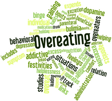 Abstract word cloud for Overeating with related tags and terms Stock Photo - 16042292