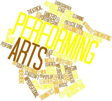 pantomime: Abstract word cloud for Performing arts with related tags and terms