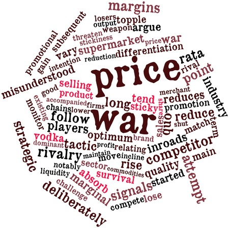 share prices: Abstract word cloud for Price war with related tags and terms