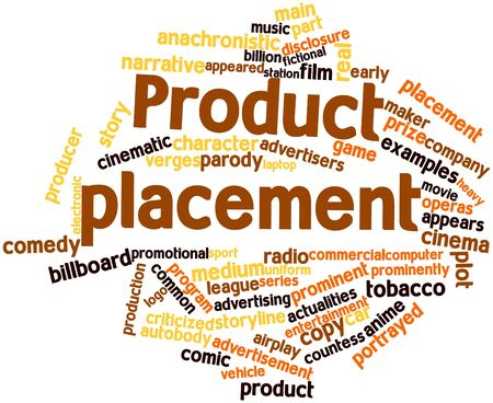 airplay: Abstract word cloud for Product placement with related tags and terms