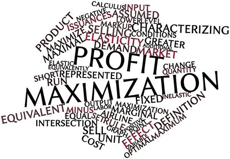Abstract word cloud for Profit maximization with related tags and terms Stock Photo - 16042262