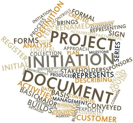 brings: Word cloud astratto per documenti di progetto con l'inizio tag correlati e termini