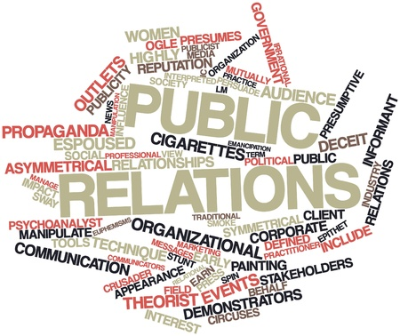 publicist: Abstract word cloud for Public relations with related tags and terms