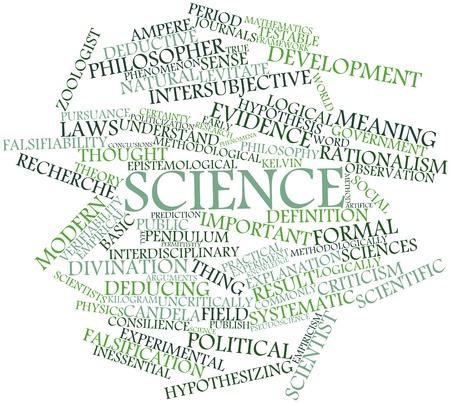 metodo cientifico: Nube palabra abstracta para la Ciencia con etiquetas y términos relacionados Foto de archivo