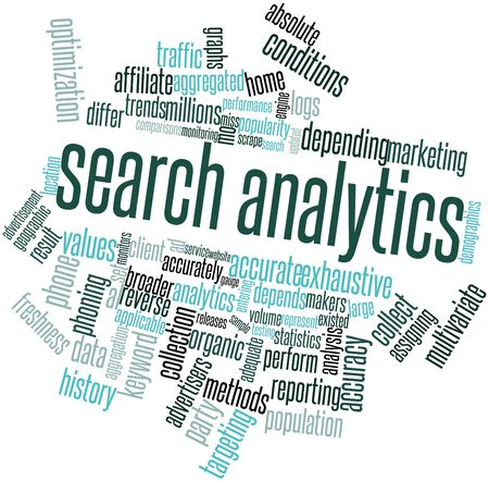 Abstract word cloud for Search analytics with related tags and terms Stock Photo - 16047738