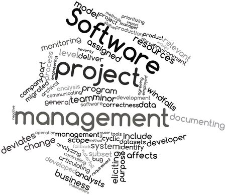 migrated: Abstract word cloud for Software project management with related tags and terms