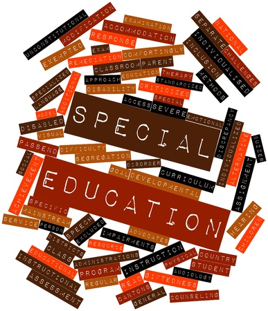 Abstract word cloud for Special education with related tags and terms Stock Photo