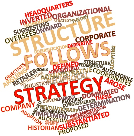 Abstract word cloud for Structure follows strategy with related tags and terms Stock Photo - 16047878