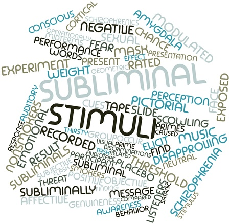 Abstract word cloud for Subliminal stimuli with related tags and terms Stock Photo - 16042646