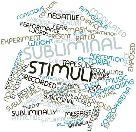 perceive: Word cloud astratto per stimoli subliminali con tag correlati e termini Archivio Fotografico