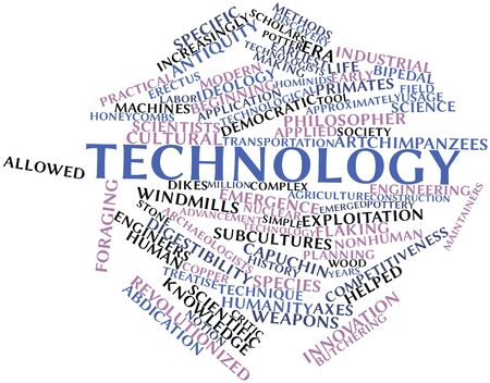 Abstract word cloud for Technology with related tags and terms Stock Photo - 16042295