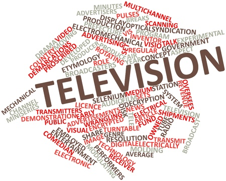 proscribed: Abstract word cloud for Television with related tags and terms