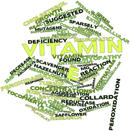 neuropathy: Abstract word cloud for Vitamin E with related tags and terms