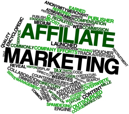 Abstract word cloud for Affiliate marketing with related tags and terms photo