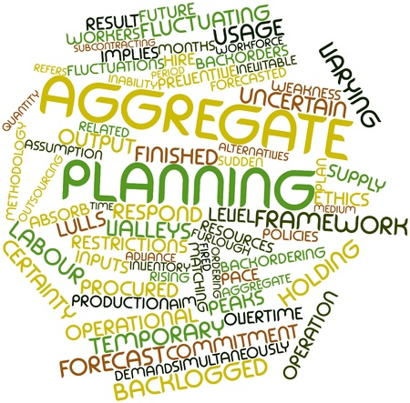 aggregate: Abstract word cloud for Aggregate planning with related tags and terms