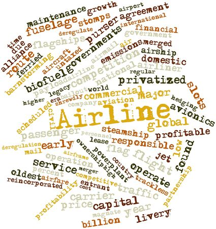 deregulation: Abstract word cloud for Airline with related tags and terms