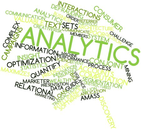 Abstract word cloud for Analytics with related tags and terms photo
