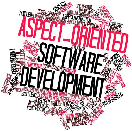 Abstract word cloud for Aspect-oriented software development with related tags and terms Stock Photo - 16049610