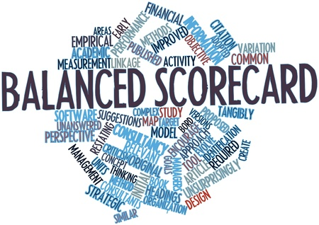 tableau: Abstract word cloud for Balanced scorecard with related tags and terms