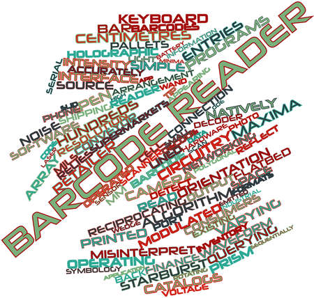 source code: Abstract word cloud for Barcode reader with related tags and terms