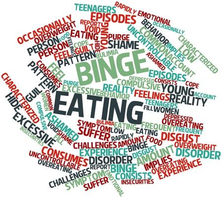 disordine: Nube parola astratta per binge mangiare con tag correlati e termini