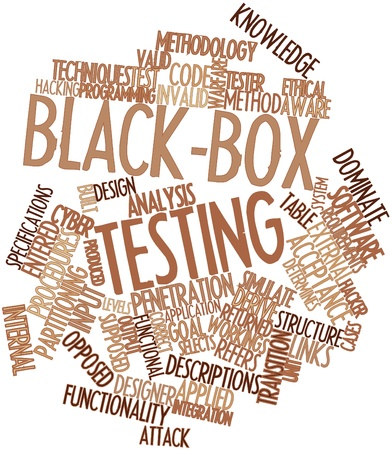 Abstract word cloud for Black-box testing with related tags and terms photo