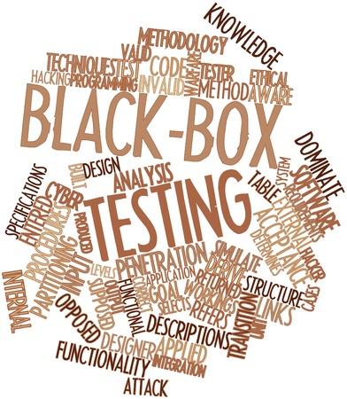determines: Word cloud astratto per Black-box testing con tag correlati e termini