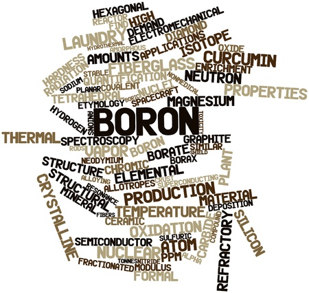 Abstract word cloud for Boron with related tags and terms Stock Photo - 16049323