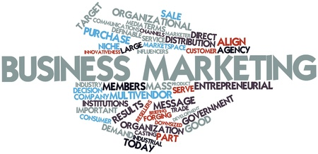 Abstract word cloud for Business marketing with related tags and terms Stock Photo - 16047989