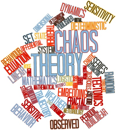 Abstract word cloud for Chaos theory with related tags and terms Stock Photo - 16049604