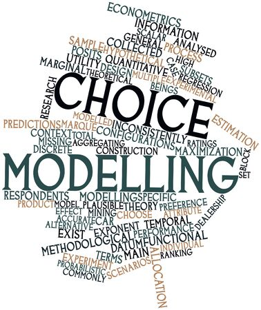 Abstract word cloud for Choice modelling with related tags and terms Stock Photo - 16049339