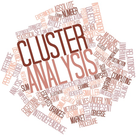 Abstract word cloud for Cluster analysis with related tags and terms Stock Photo - 16049593