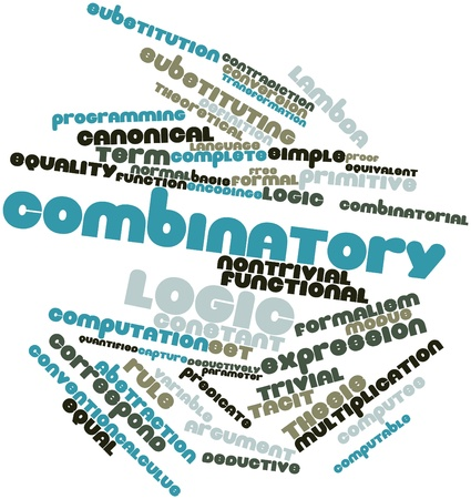 Abstract word cloud for Combinatory logic with related tags and terms Stock Photo - 16048044