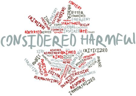 replies: Abstract word cloud for Considered harmful with related tags and terms