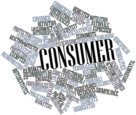 Abstract word cloud for Consumer with related tags and terms photo