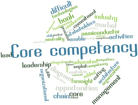 Abstract word cloud for Core competency with related tags and terms Stock Photo - 16048028