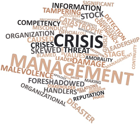 miscreant: Abstract word cloud for Crisis management with related tags and terms
