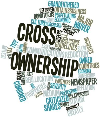 criticized: Abstract word cloud for Cross ownership with related tags and terms