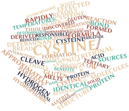 Abstract word cloud for Cystine with related tags and terms Stock Photo - 16048282