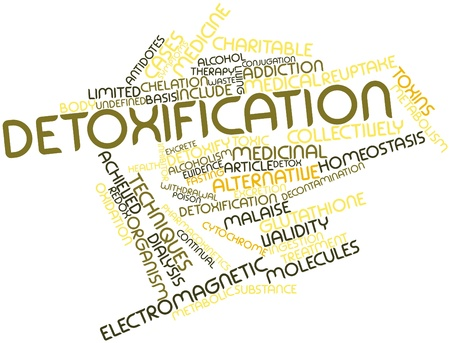 Abstract word cloud for Detoxification with related tags and terms Stock Photo - 16048043
