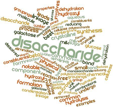 celulosa: Nube palabra abstracta para Disacárido con etiquetas y términos relacionados